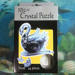 Brand New 3D Crystal Puzzle - Swan (44 Pieces)