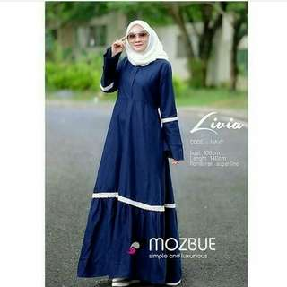 Simply Gamis Linen Navy