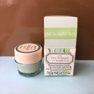 It's Potent! Eye benefit cream