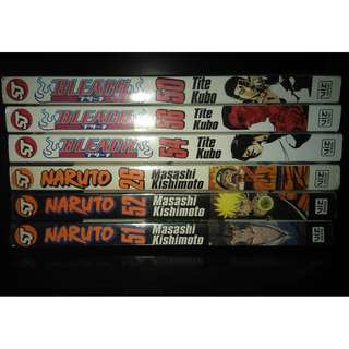 RUSH Manga Books Naruto,Bleach