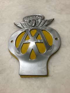 vintage car badge/crest 'AA' Malaysia