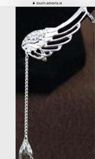 Crystal drop earring cuff