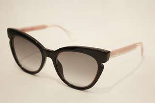 FENDI SUNGLASSES, BLACK/PINK CAT EYE