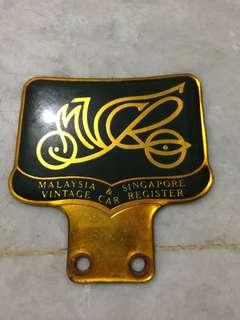 vintage car badge/crest
