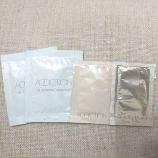 Addiction Oil Cleansing 3ml x 2, The foundation 0.6ml, SPF50+ PA+++ 0.6ml
