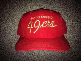 VINTAGE SAN FRANCISCO 49ERS SCRIPT COACH CAP