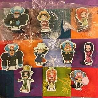 🚚 海賊王One Piece~立式Meno夾~買全部加送瑪利歐玩具