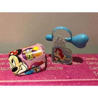 迪士尼 扭蛋 小美人魚 香香豆 香水瓶