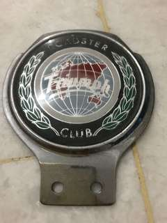 Triumph roadster club vintage car badge/crest