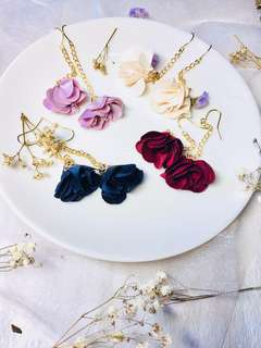 Handmade flower earring