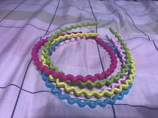 1. Rainbow Hair band - $10 2.assortand cute hair band 3for$10