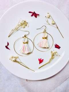 Handmade pastel tassels earrings
