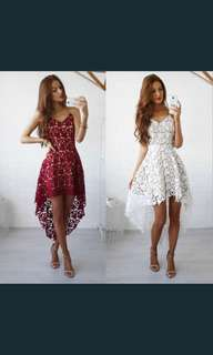 Lace Red/ White Dress