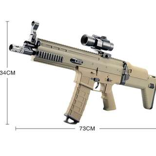 Electric AUTOMATIC Toy FN SCAR Water Gel Ball Crystal Pallets Blaster Water Gun