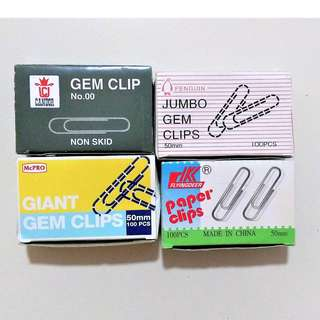 Jumbo Gem Clips x 4 boxes