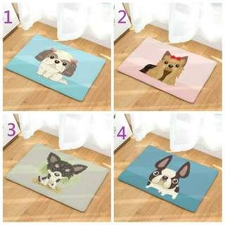 毛小孩 法鬥 吉娃娃 西莎 地毯 哈士奇 賤狗 寵物 卡通 地毯 鬥牛犬 插畫 地毯 防滑地墊 造型地毯 浴室地毯 狗狗