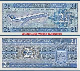 Netherlands Antilles 2 1/2 Gulden Banknote