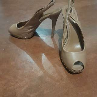 Charles and Keith open toe heels.
