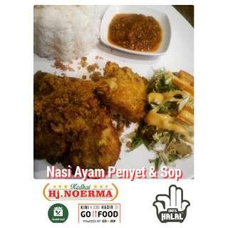 Nasi Ayam Penyet & Sop