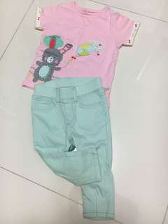 Mothercare Tee + BabyGap Jeans