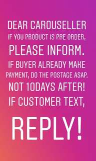 ATTENTION SELLER!