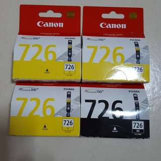 Canon 725 & 726 ink cartridges