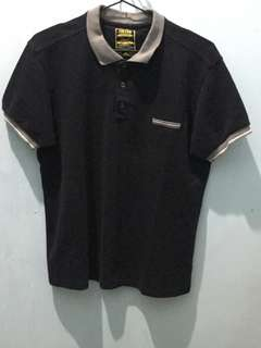 Freego - Black with Gray Collar Polo Shirt
