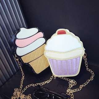 Cupcake / Ice Cream Sling Bag