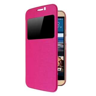 HTC ONE M8 Slim Hybrid Flip Case Back Hard Cover