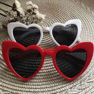 Retro Heart Sunnies Red White