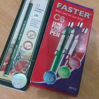 Pensil dan  pulpen