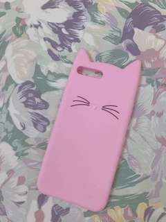 Cute pink cat korean style iphone 7plus casing
