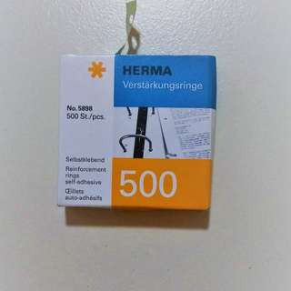 Brand New HERMA Reinforcement Rings