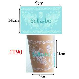 ★Design Lacey Fake Temporary Body Tattoos Stickers Sellzabo White Colour #T90