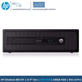HP EliteDesk Business Desktop 800 SFF G1 Quad Core i5-4670#3.4GHz 4th Gen 8GB DDR3 500GB HDD Win 10 Pro