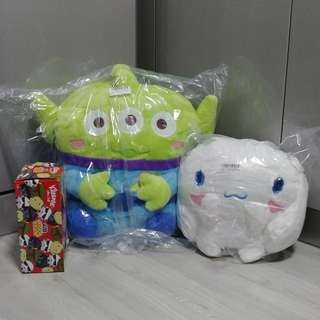 (Toreba) Cinnamoroll / toy story alien plush