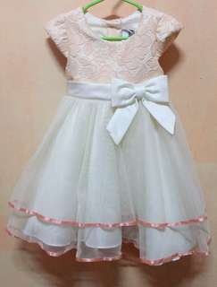 Pink gown for baby girl