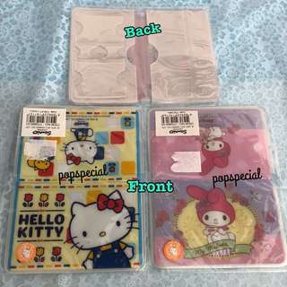 Last PCS Each My Melody Hello Kitty 2 slots for Ez Link card Holder