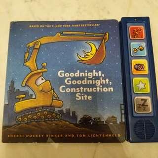 Preloved Sound Book Goodnight Goodnight Construction Site