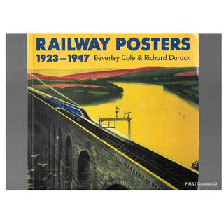 MY BOOK - RAILWAY POSTER 1923 TO 1947. / FREE DELIVERY