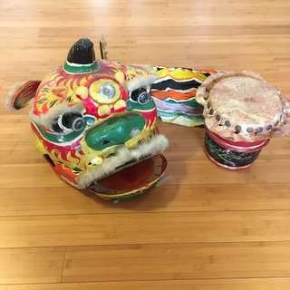 Chinese Lion dance head