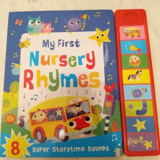 Preloved sound book: my first nursery rhymes