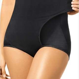 black adjustable belly wrap shapewear girdle