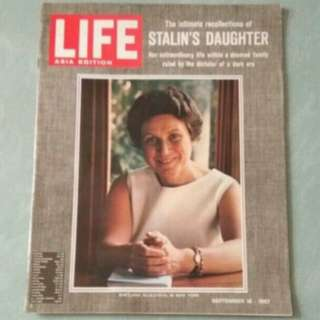 1960年代雜誌 史太林女兒專訪