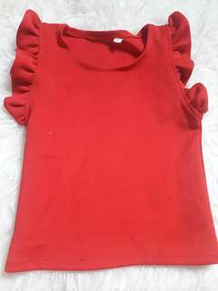 Scuba baby red top