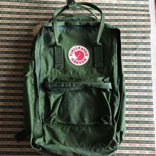 Fjallraven Kanken Backpack 護肩帶 軍 綠 School Bag Size 15'' Leaf Green