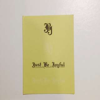 JBJ Concert Merchandise Stickers