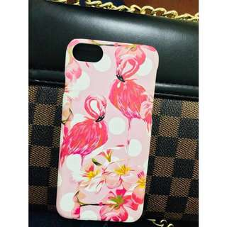 Pink flamingo iPhone 7 hard case