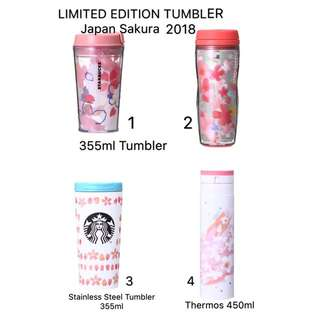Starbucks Japan Tumbler Sakura 2018 (Pre-Order 13/3/2018 - 25/3/2018)