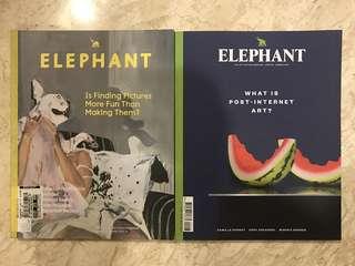 Elephant magazine x 2